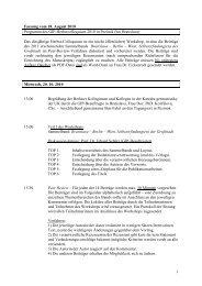Programm Neu Herbst-Colloquium 2010