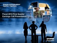 Fiscal 2012 First Quarter Earnings Call Presentation