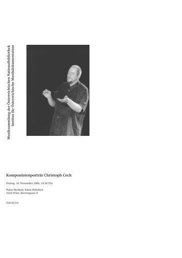 Christoph Cech - Institut für Österreichische Musikdokumentation