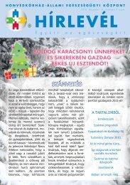 Hírlevél 2010 december (hirlevel_2010_dec.pdf) - Honvédkórház