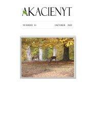 nummer 10 oktober 2009 - Akaciegården