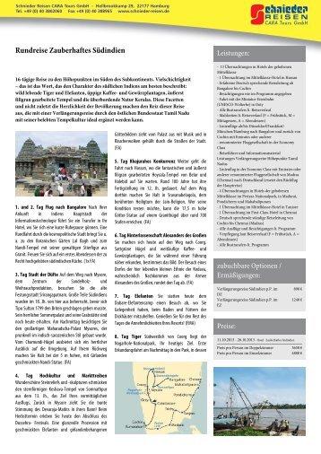 Rundreise Zauberhaftes Südindien - Schnieder Reisen