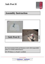 Assembly Instruction Safe Post II - access group gmbh