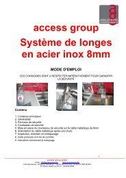 access group Système de longes en acier inox ... - access group gmbh