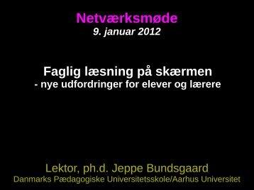 Faglig læsning - Jeppe Bundsgaard