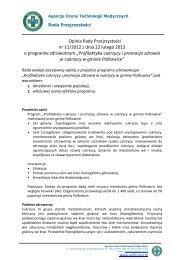 Opinia Rady Przejrzystości nr 11/2012 z dnia 22 lutego ... - AOTM
