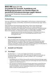 Grundsätze für Auswahl, Ausbildung und ... - access group gmbh