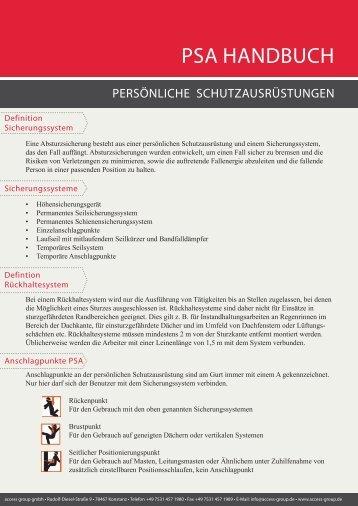 PSA Handbuch.indd - access group gmbh