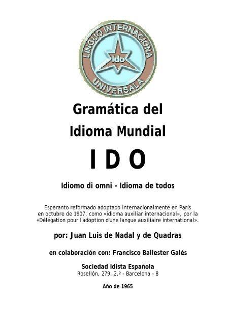 Gramática del Idioma Mundial - Ido-librerio dil ULI