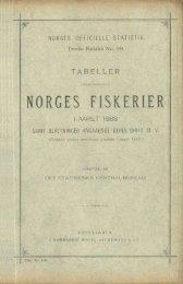 Tabeller vedkommende Norges Fiskerier i Aaret 1988, Samt ...