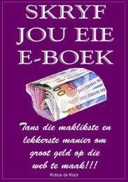 Skryf jou eie E-boek - SA Vryskutskrywer