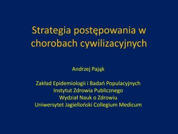 Strategia postępowania w chorobach cywilizacyjnych