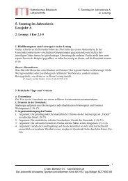 5. Sonntag im Jahreskreis Lesejahr A - Katholisches Bibelwerk