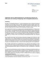 Vejledende notat om afskæringskriterier for ... - Miljøstyrelsen