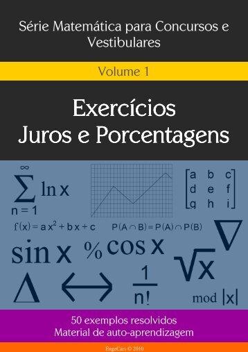 Exercícios Exercícios Juros e Porcentagens Juros e Porcentagens