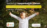 natuurlijk toegankelijk spelen - Nederlandse Stichting voor het ...