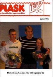Juni 2005 Michelle og Rasmus klar til Ungdoms OL
