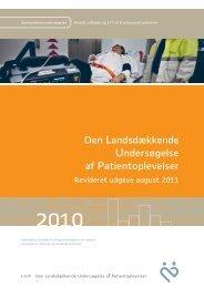 Den Landsdækkende Undersøgelse af Patientoplevelser (LUP) 2010