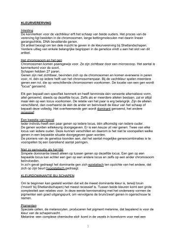 erfelijkheid: kleuren en tekeningen - Shetlandsheep.nl