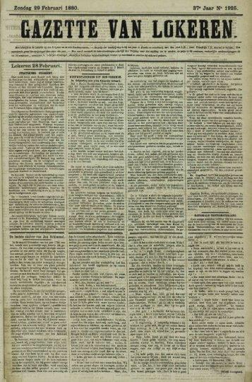 Zondag 29 Februari 1880.