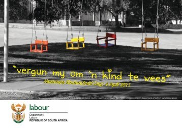 Nasionale Kinderarbeid Dag: 4 April 2011 - Department of Labour