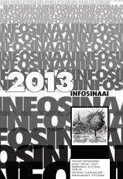 + Info Sinaai 1-2013 - Sinaai Leeft!