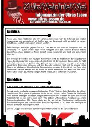 Ausblick: Rückblick: - Ultras Essen