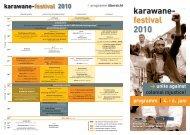 Programm-Flyer (PDF, 1 MB) - Karawane-Festival
