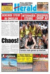 Fransies maak geraas op Interhoër - Letaba Herald