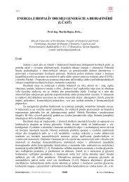energia z biopalív druhej generácie a biorafinérií (i ... - Petroleum.cz