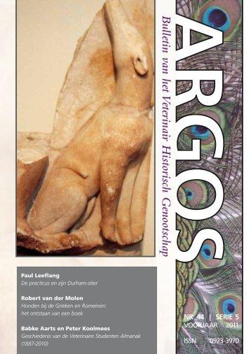 Argos uitgave nr 44, voorjaar 2011 - VHG Veterinary History