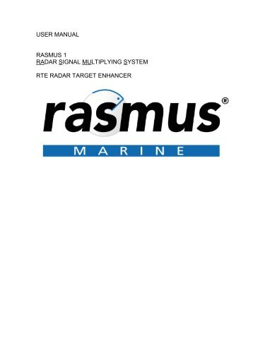 user manual rasmus 1 radar signal multiplying ... - Polaris-as.dk