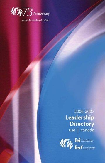 2005-06 Directory - Financial Executives International
