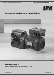 MOVIMOT® MM..D met draaistroommotor DRS ... - SEW Eurodrive