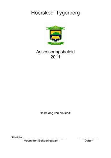 Assesseringsbeleid - Hoërskool Tygerberg