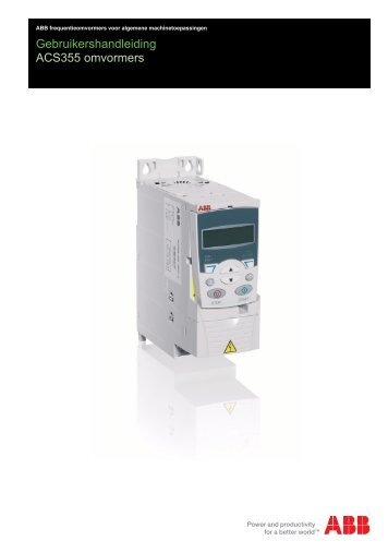 Handleiding ACS355 - Electro Drive BV