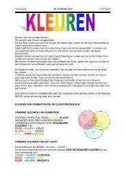 Kleuren - De Verlichte Ster