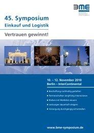 45. Symposium 2010 - Programm - BME