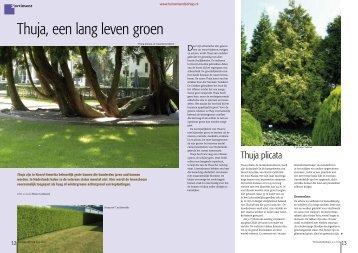 T&L Thuja, een lang leven groen 5/2010 - Tuin & Landschap