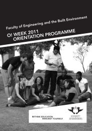 FEBE Orientation brochure.indd - University of Johannesburg