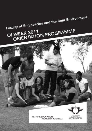 FEBE Orientation brochure.indd - University of Johannesburg