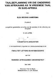 Taalbeplanning vir die onderrig van Afrikaans as - UJDigispace Home