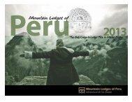 Trekking Brochure 2013 - Mountain Lodges of Peru