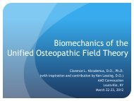Unified Osteopathic Field theory - American Academy of Osteopathy