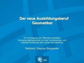 Der neue Ausbildungsberuf Geomatiker