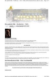 BLOG Anabole Diät Review Teil 1 - Body-Coaches