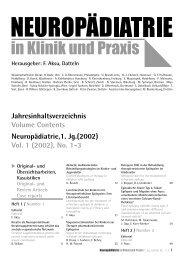 #4085 Jahresinhaltsverz. 2002 - Neuropädiatrie in Klinik und Praxis