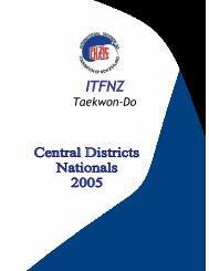Printed Programme - International Taekwon-do Federation of New ...