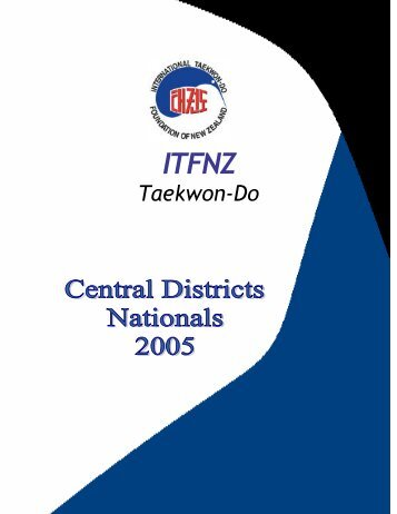 Printed Programme - International Taekwon-do Federation of New ...