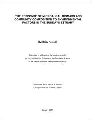 the response of microalgal biomass and community composition to ...